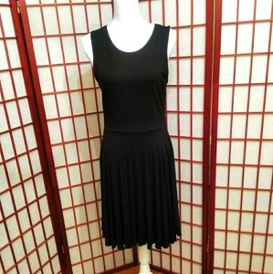 CYNTHIA ROWLEY BLACK SKATER DRESS